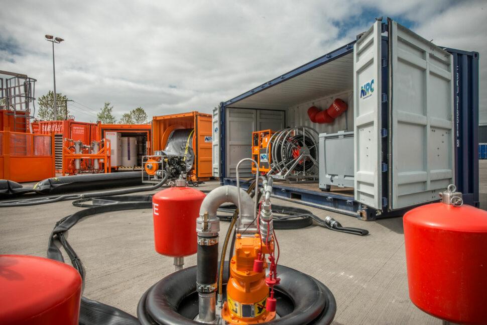 NRC equipment container in Milton Keynes